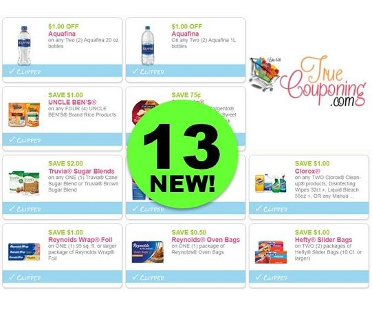HURRY and Print the **NEW** Thirteen (13!) Coupons Out Today!