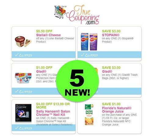 Save Up to $11.50 with These FIVE (5!) **NEW** Coupons! ~ PRINT NOW!