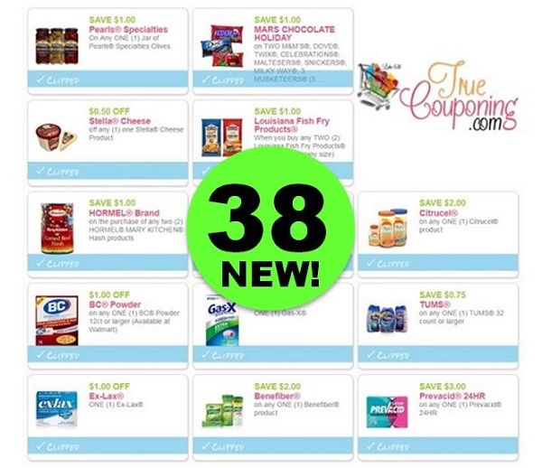 Did You SEE the Thirty-Eight (38!) Coupons That Came Out This Week?!! ~ PRINT NOW!