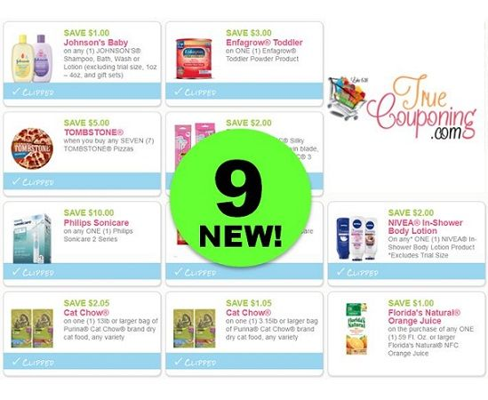 There's NINE (9!) **NEW** Coupons Out Today! ~ PRINT NOW!