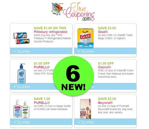PRINT the SIX (6!) **NEW** Coupons That Came Out Today! ~ Save on Purell, Pillsbury & More!