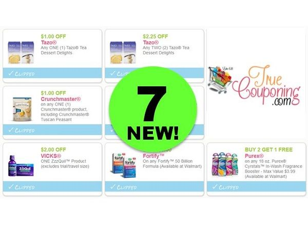 PRINT the SEVEN (7!) NEW & Reset Coupons for Tazo Tea, Purex & More!