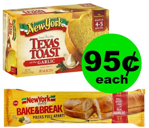 New York Frozen Garlic Bread for 95¢ Each at Publix! ~ Ends Tues/Weds!