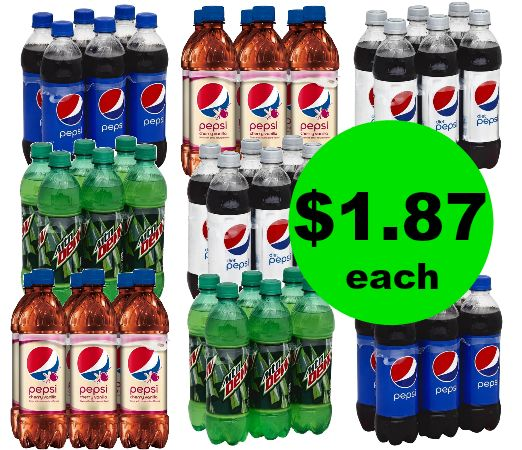 Pick Up Pepsi 6 Pack Bottles for $1.87 Each at Publix! ~ Ends Tues/Weds!