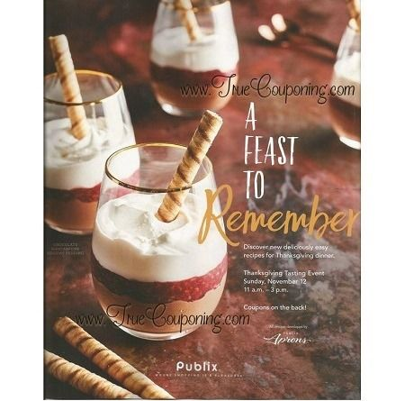 "Publix ""A Feast To Remember"" Coupon Booklet & Printables (Valid through 11/22/17)"