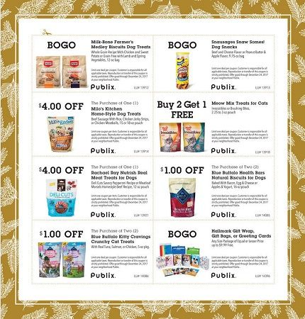 "Publix ""Holiday Pet Treats"" Coupon Sheet & Printables! (Valid 11/24 – 12/24)"