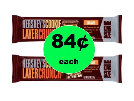 Chocolate Alert! Pick Up 84¢ Hershey's Cookie Layer Crunch King Size Candy Bar at Walmart! ~ Right Now!