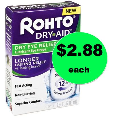 Get Relief with $2.88 Rohto Dry Aid Eye Drops {Save $7!} at Walmart! ~Ends Tuesday, 12/5!