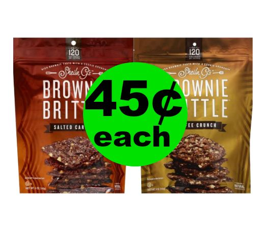 (**Updated: Even Cheaper!**) Chocolate Yumminess! 45¢ for Sheila G's Brownie Brittle at Publix! ~ Ends Tues/Weds!