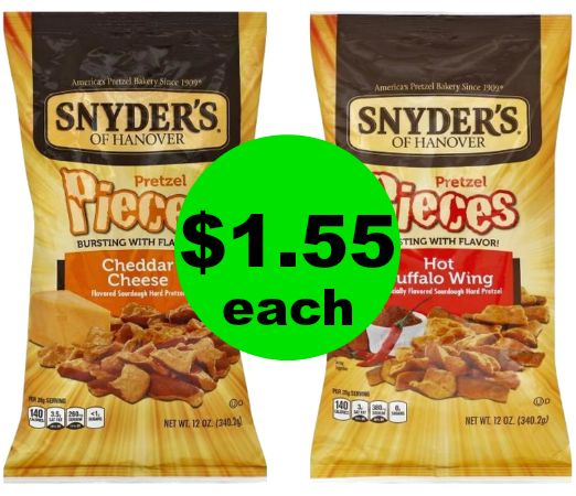 Snack Away with Snyder's of Hanover Pretzel Pieces for $1.55 Each at Publix! ~ Ends Tues/Weds!
