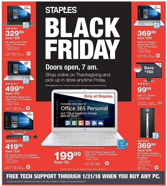 Staples Black Friday Ad Scan 2017 {$9.99 10 Ream Paper Case!}