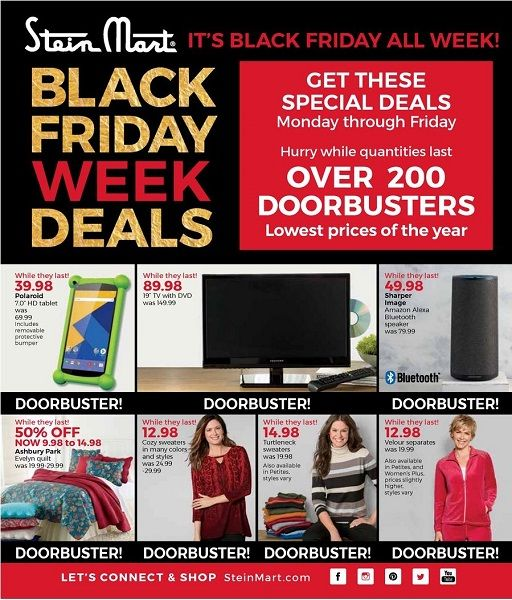 Stein Mart Black Friday Ad Scan 2017 {50% Off Homegoods, Clothing & More!}