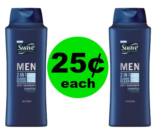 Pick Up 25¢ Suave Men's Hair Care at CVS! ~ Ends Wednesday!