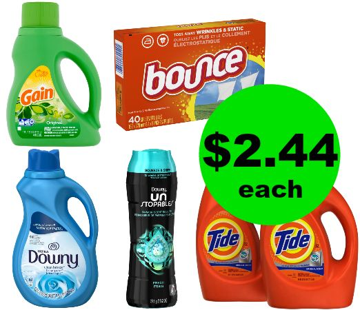 It's Time of a Laundry Haul! Tide, Bounce or Downy Products $2.44 Each at CVS! ~ This Week!
