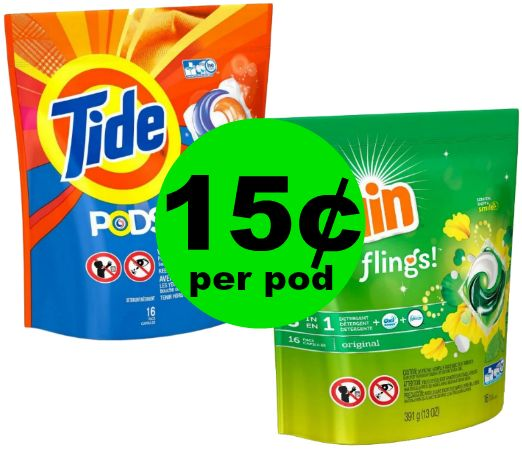 Tide Pods or Gain Flings JUST 15¢ Per Pod at CVS! ~ Going On Now!