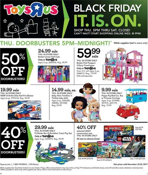 Toys R Us Black Friday Ad Scan 2017 4050 Off Doorbusters 33