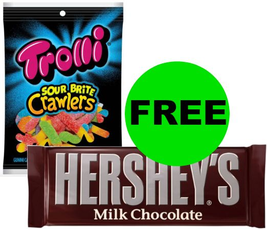 TWO (2!) FREE Hershey's Singles & Trolli Candies at CVS! {No Coupon Needed!} ~ Right NOW!
