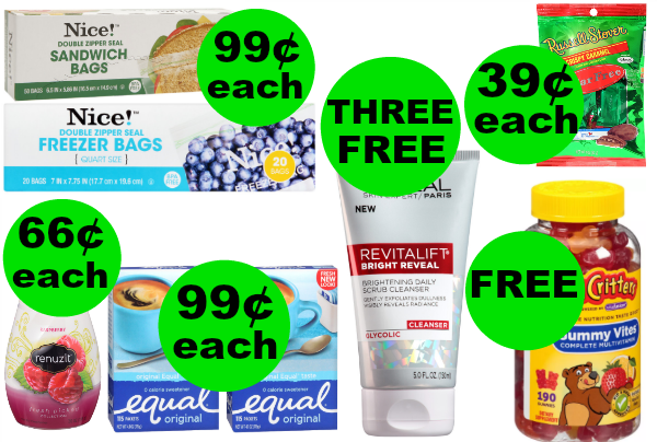 Don't Miss Your FOUR (4!) FREEbies & SIX (6!) Deals JUST 79¢ Each or Less at Walgreens! ~ Ends Saturday!
