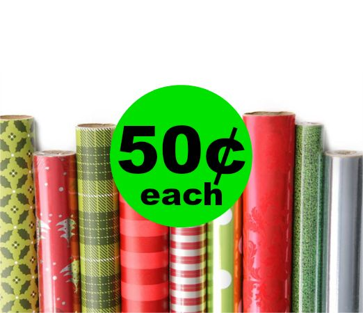 Easy Wrapping Paper Deal! Holiday Wrapping Paper Only 50¢ Each at Publix ~ Ending Soon!