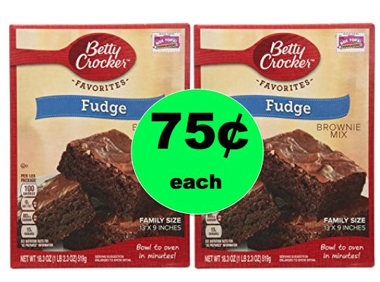 Dessert is Served! Pick Up TWO (2!) Betty Crocker Family Size Brownie Mixes ONLY 75¢ at Walmart! ~Right Now!