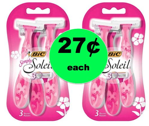 Get 27¢ Bic Simply Soleil Disposable Razors at Walmart! PRINT Now!