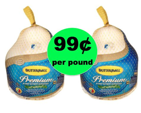 It's Turkey Time! Get Butterball Grade A Frozen Turkey 99¢/lb at Winn Dixie! ~ Right Now!