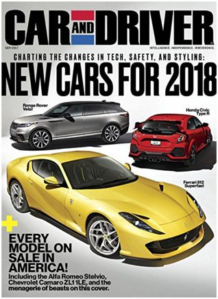FREE One-Year Subscription to Car and Driver Magazine!