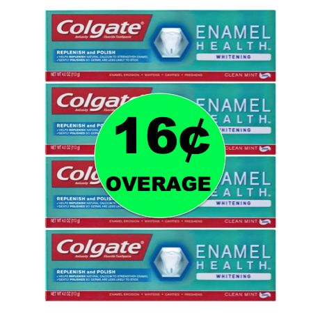 FOUR (4!) FREE + 16¢ OVERAGE on Colgate Enamel Toothpaste at Walmart! ~NOW!
