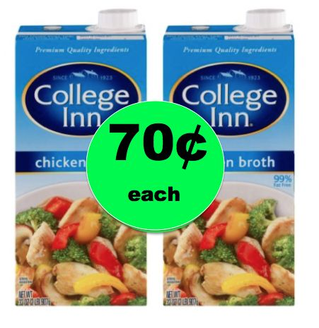 Pick Up College Inn Broth ONLY 70¢ Each at Winn Dixie! ~Right Now!
