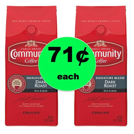 CHEAP Coffee! Get Community Coffee for Only 71¢ Each at Walgreens! ~ Ends Tomorrow!