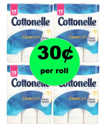 Cheap TP! Print NOW for Cottonelle Bath Tissue Only 30¢ Per BIG Roll at Walgreens! ~Right Now!