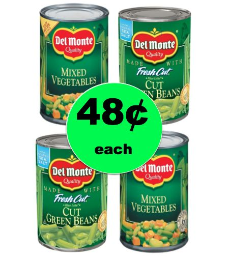Go for Veggies with Del Monte Canned Vegetables ONLY 48¢ Each at Winn Dixie! ~Right Now!