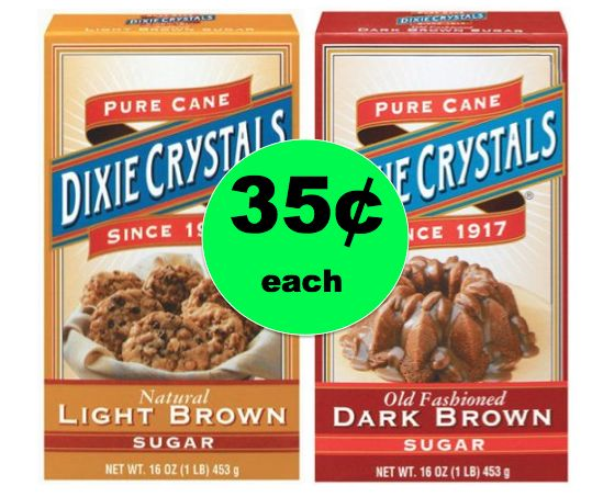 Dixie Crystals Light Brown, Dark Brown or Powdered Sugar ONLY 35¢ Each at Winn Dixie! Starts Today!