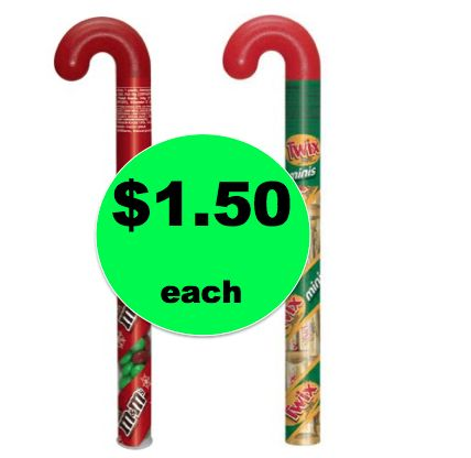 Stocking Stuffer Alert! Pick Up $1.50 Mars Holiday Filled Candy Canes at Walmart! ~ NOW