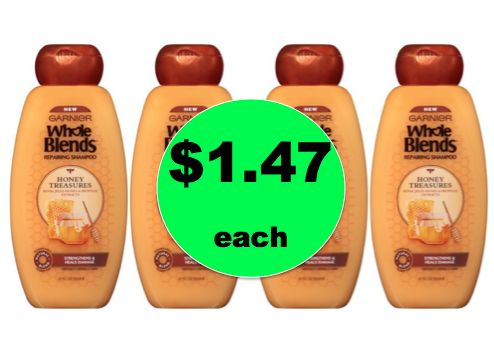 Stock Up with $1.47 Garnier Whole Blends Hair Care BIG Bottles at Walmart! ~Ends Soon!
