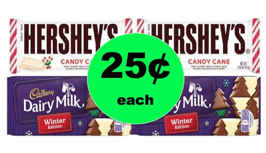 Stocking Stuffer Alert! Get Hershey's or Cadbury Holiday Singles Candy ONLY 25¢ Each at Walgreens! ~ Starts Sunday!