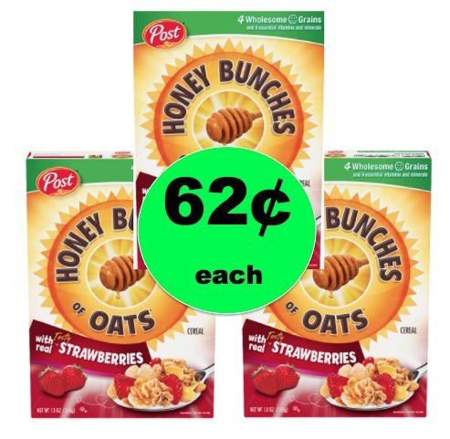 Cereal for Breakfast or Dinner? Get Honey Bunches of Oats for 62¢ at Walgreens! ~ Ends Saturday!
