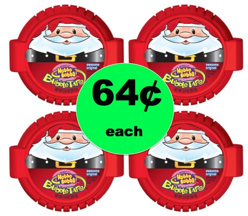 Stocking Stuffer Alert! Pick Up 64¢ Hubba Bubba Bubble Gum Christmas Tape at Target! ~Ends Tomorrow!