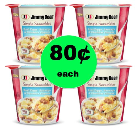 Have Breakfast in a Hurry with 80¢ Jimmy Dean Simple Scramblers {Reg. $2.69} at Target! ~Right Now!