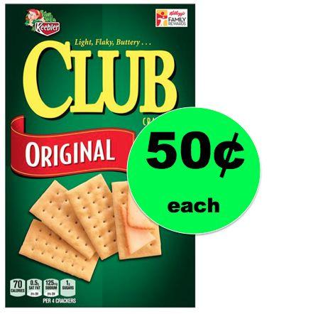 Get Keebler Club Crackers ONLY 50¢ Each at Winn Dixie! ~ Sat & Sun ONLY!