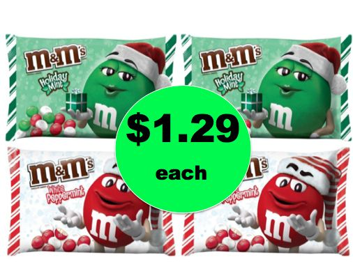 Stock Up on Christmas Candy with $1.29 Mars M&M's Candy Bags at Target! ~Ends Saturday!