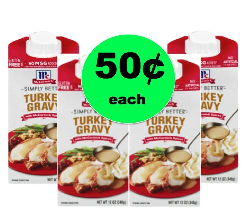 Cheat a Little with McCormick Simply Better Gravy ONLY 50¢ Each at Winn Dixie! ~ Starts Today!