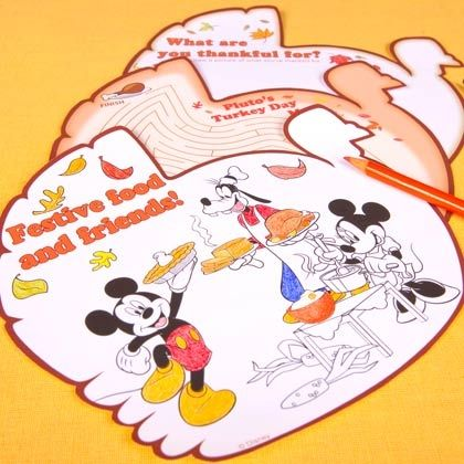 FREE Disney Thanksgiving Coloring Pages!