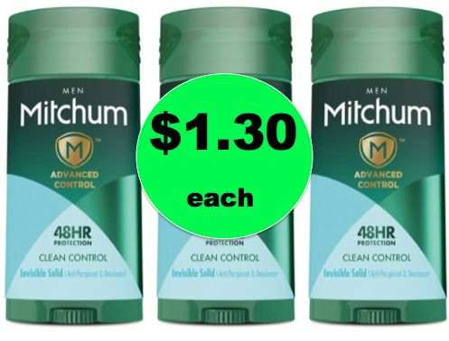 Make Sure to Get Your $1.30 Mitchum Men's Deodorant at Target {No Coupon Needed}! ~ Right Now!