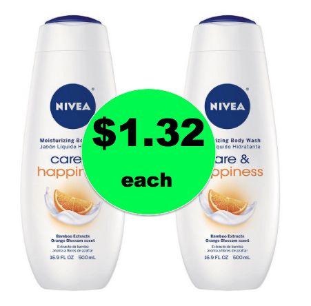 Need Body Wash? Snag $1.32 Nivea Body Wash at Target! ~This Week Only!
