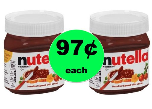 IT'S NUTELLA TIME! Get Nutella Hazelnut Spread for ONLY 97¢ Each at Walgreens! ~Starting Sunday!!