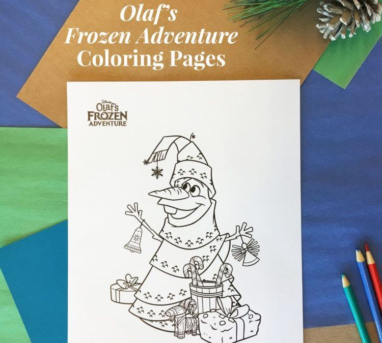 FREE Disney's Olaf Holiday Coloring Pages!