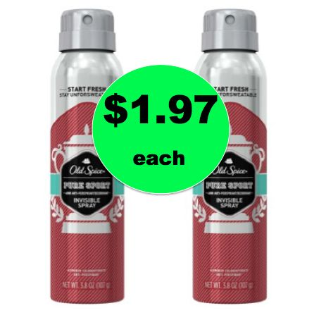 Chase Away the Stank with $1.97 Old Spice Invisible Deodorant Spray {Save $4!} at Walmart! ~Ends Soon!