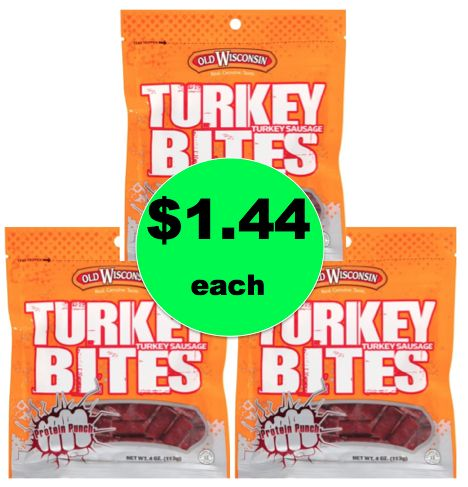 Protein on the Go! Pick Up $1.44 Old Wisconsin Turkey Bites at Walmart! ~Happening Now!
