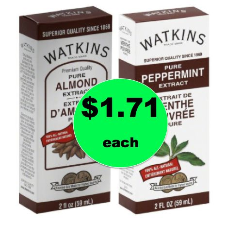 Time to Bake with $1.71 Watkins Pure Peppermint or Almond Extract at Target!  ~Right Now!